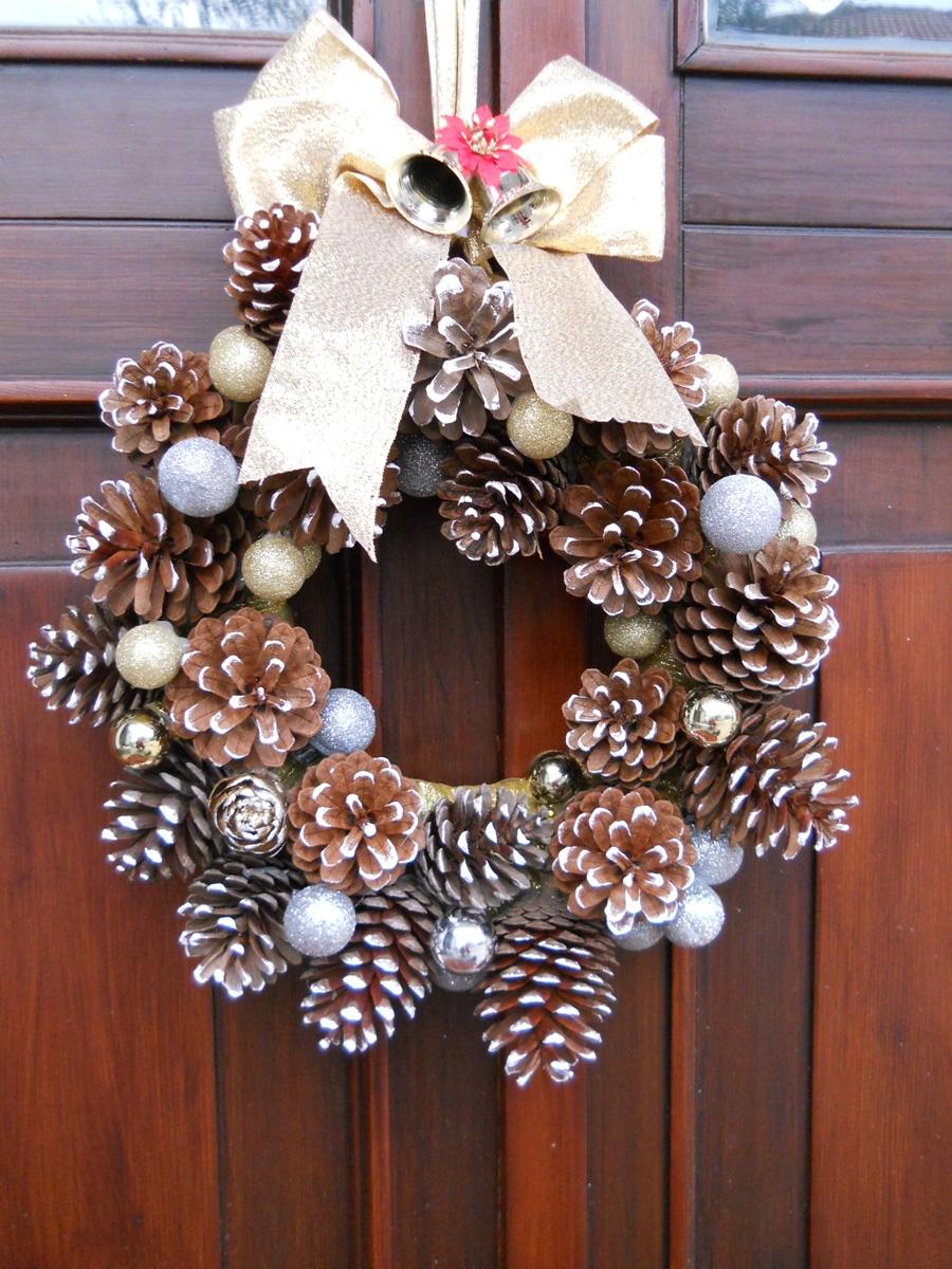 Tutti i colori di cria ghirlanda natalizia di pigne - Decorazioni natalizie con le pigne ...