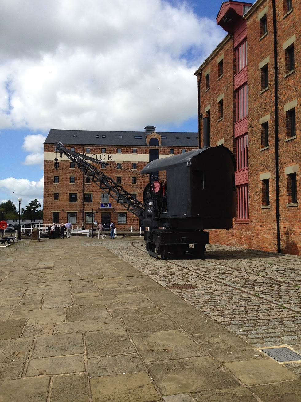 Old railway crane, Gloucester Docks