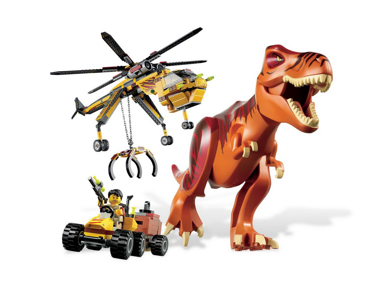 Repubblick set database lego 5886 t rex hunter - Lego dinosaures ...
