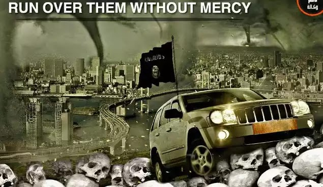 Ισλαμικό πόστερ.Πατήστε τους χωρίς έλεος