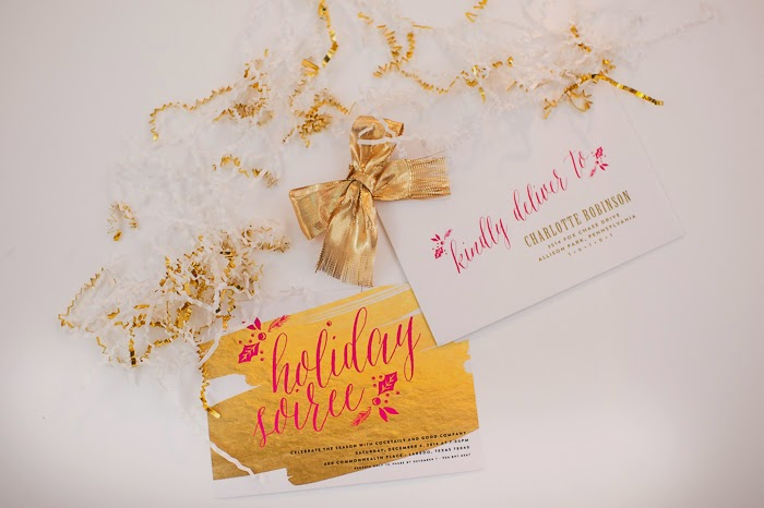 Holiday Soiree Invitation by Blush Paper Co.