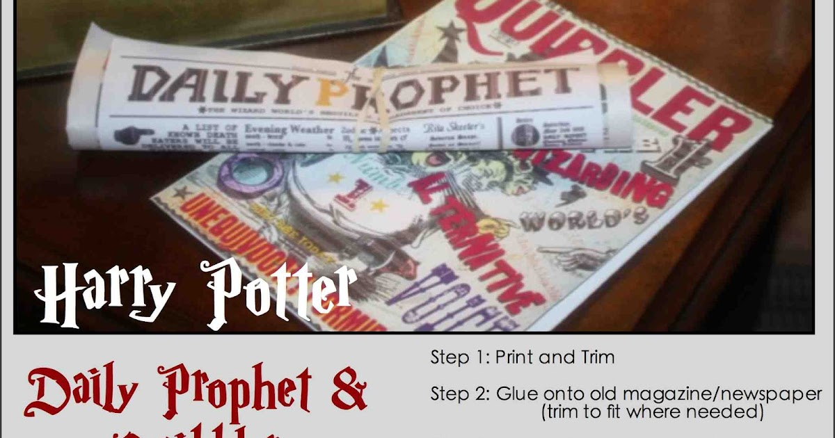 photograph relating to Daily Prophet Printable known as simply just Adorable and Straightforward: Harry Potter Day by day Prophet Quibbler