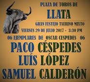Paco Céspedes y Luis López, anunciados en Llata, el 29/07