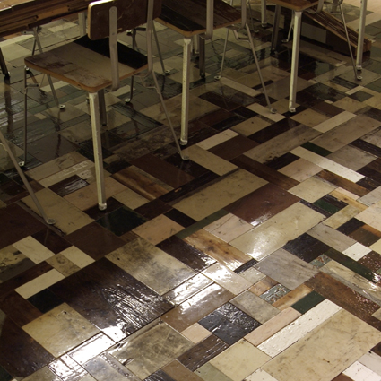 Piet Hein Eek patchwork wood floor