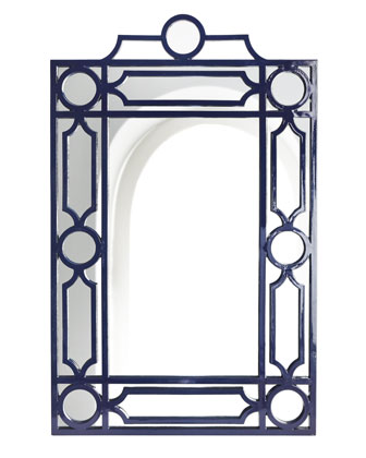 HORCHOW NAVY GEOMETRIC MIRROR