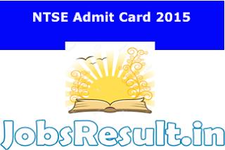 NTSE Admit Card 2015