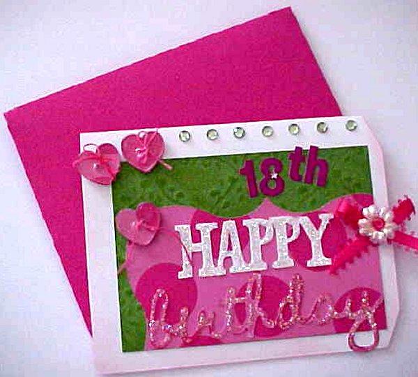 Craft Creations: 18th Happy Birthday Card