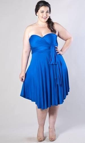 Vestidos azul noche para gorditas