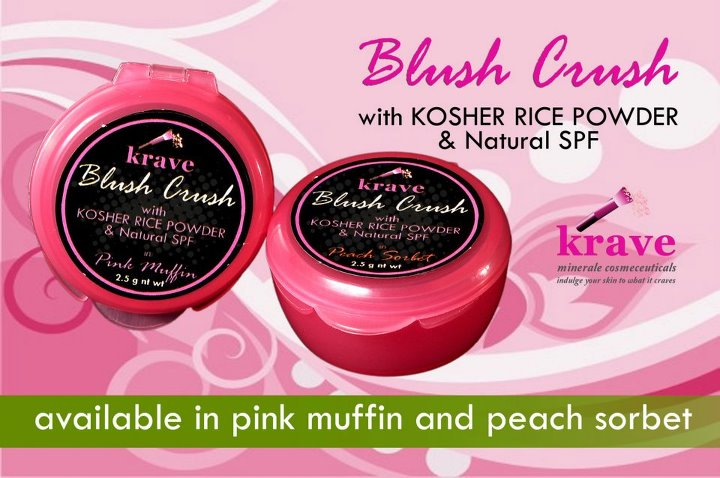 Peach Sorbet Krave Minerale Blush On Swatch