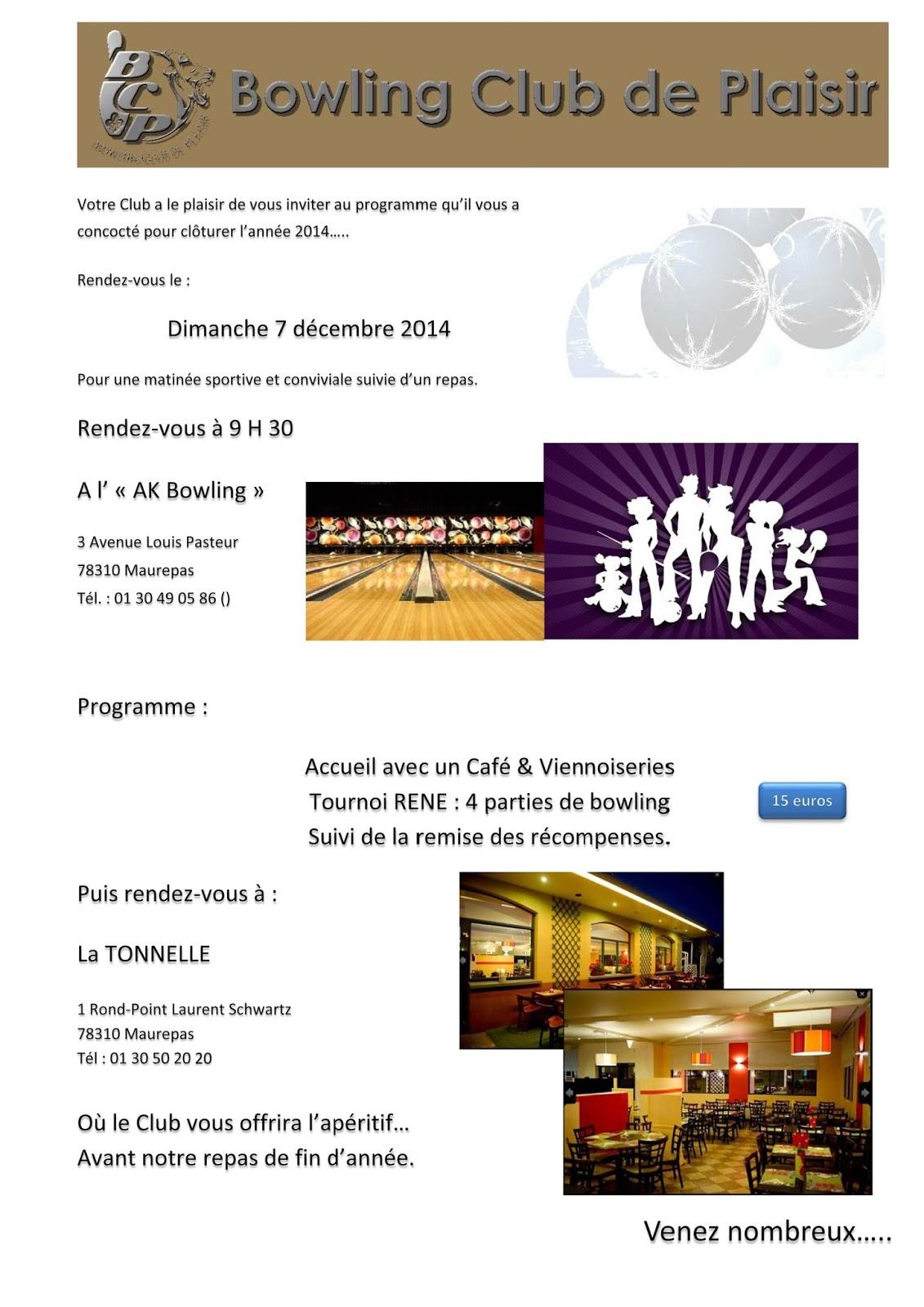 Bowling club de plaisir repas de no l et coupe ren le - Www le palet com competitions coupes bulletins d inscriptions ...