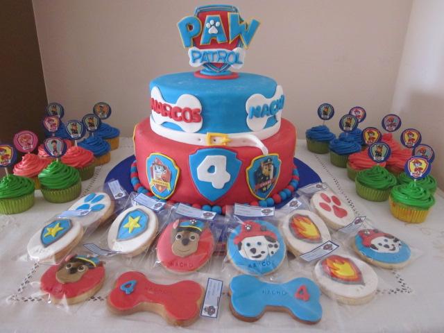 Dicori tartas y galletas patrulla canina - Decoracion de la patrulla canina ...