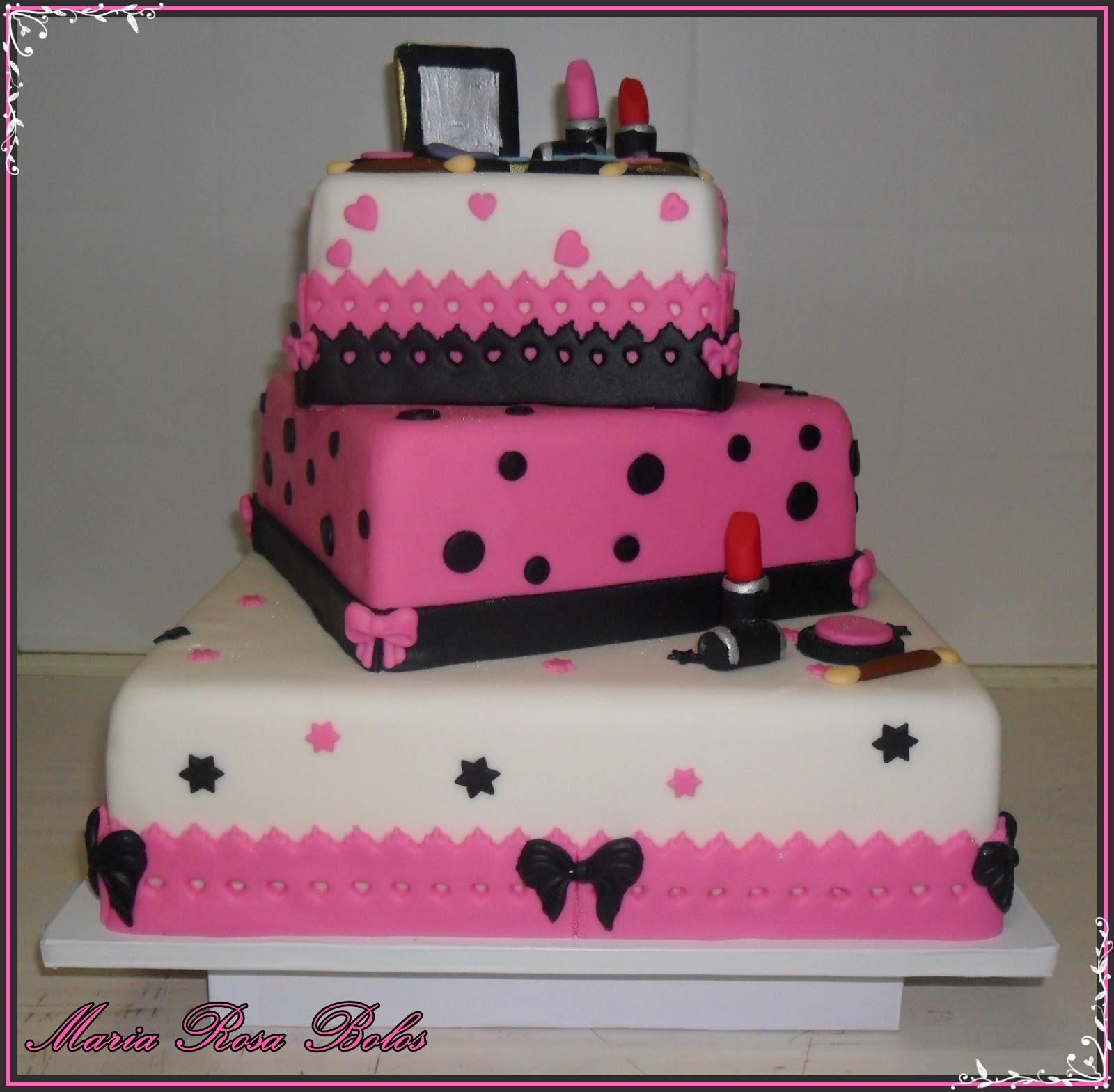 Bolo Grande Decorado Em Pasta Americana | Cute Cakes Cupcakes