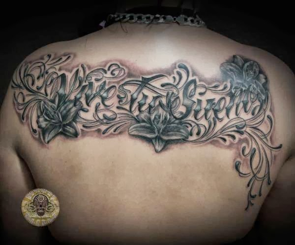 Lily Chicano Lettering Tattoo