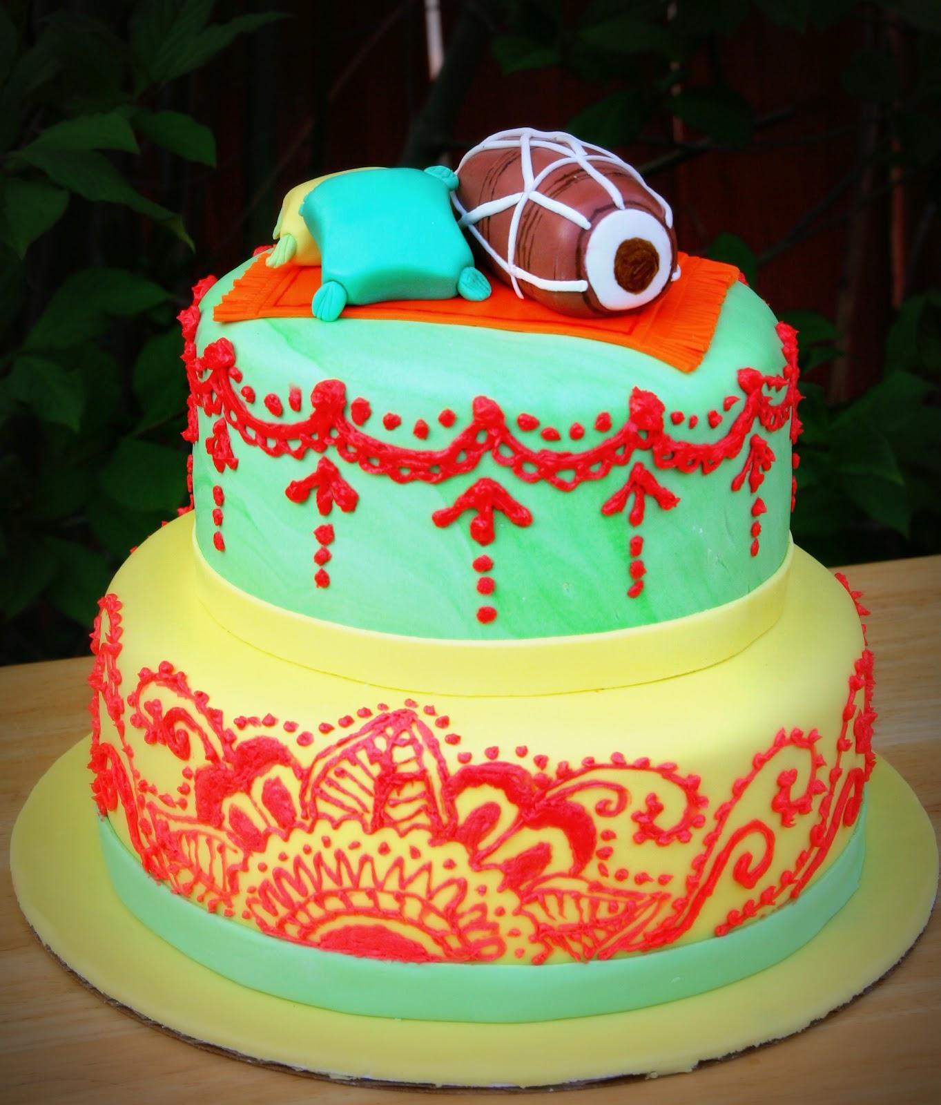 Mehndi Dholki Cake : Dhol baaje sweet adventures