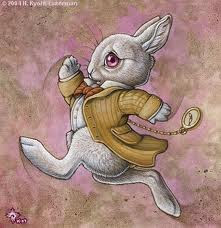 Follow me like Alice and the White Rabbit...