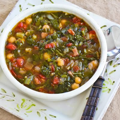 Tomato-Chickpea Soup With Rice And Swiss Chard Recipes — Dishmaps