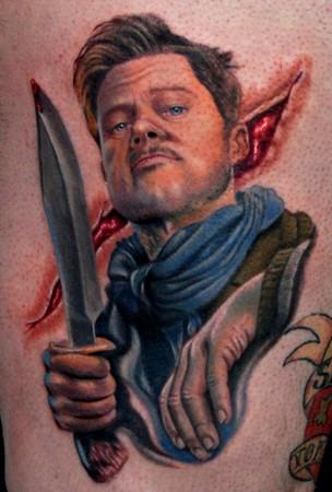 filmes, tatuagens, imagens, cinema, bastardos inglórios, 25 tatuagens baseadas em filmes, arte corporal cinematográfica, eu adoro morar na internet