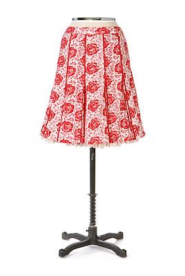 Anthropologie Little Red Riding Skirt