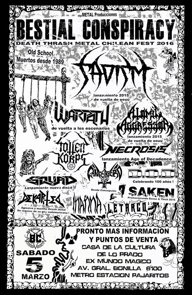 BESTIAL CONSPIRACY FEST 2016 RULES