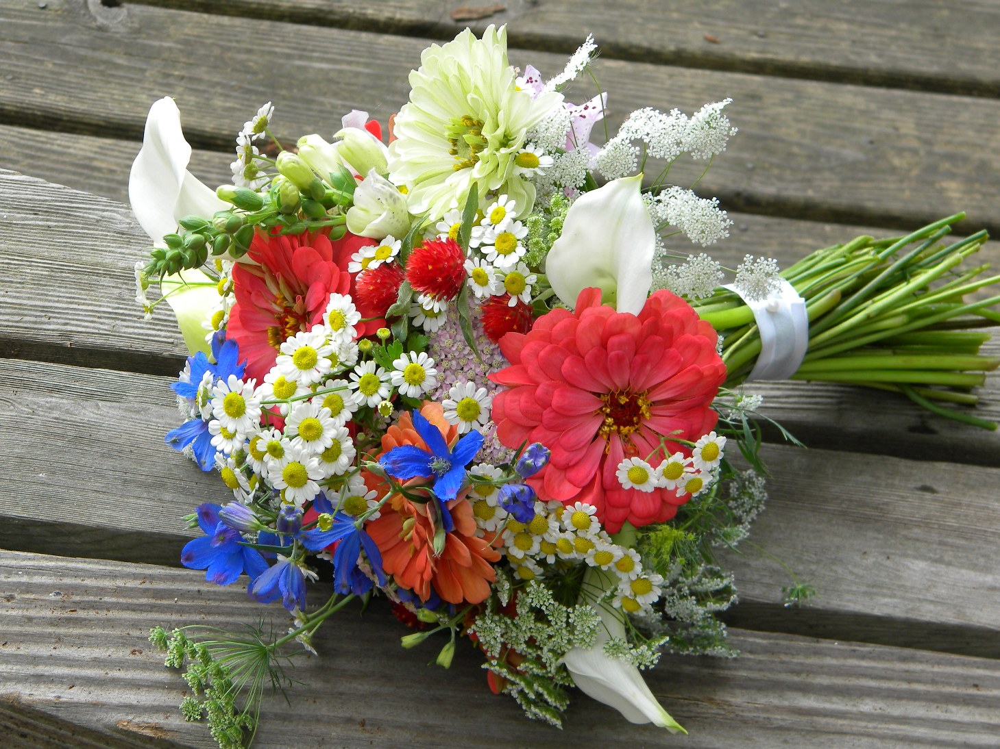 Wedding Flowers from Springwell: Summer Bouquet in Warm Coral and ...