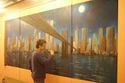 Aranżacja baru poprzez malowanie, malarstwo.