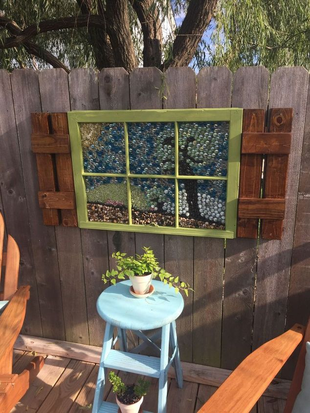 How To Make Garden Art Out Of An Old Window Frame Diy