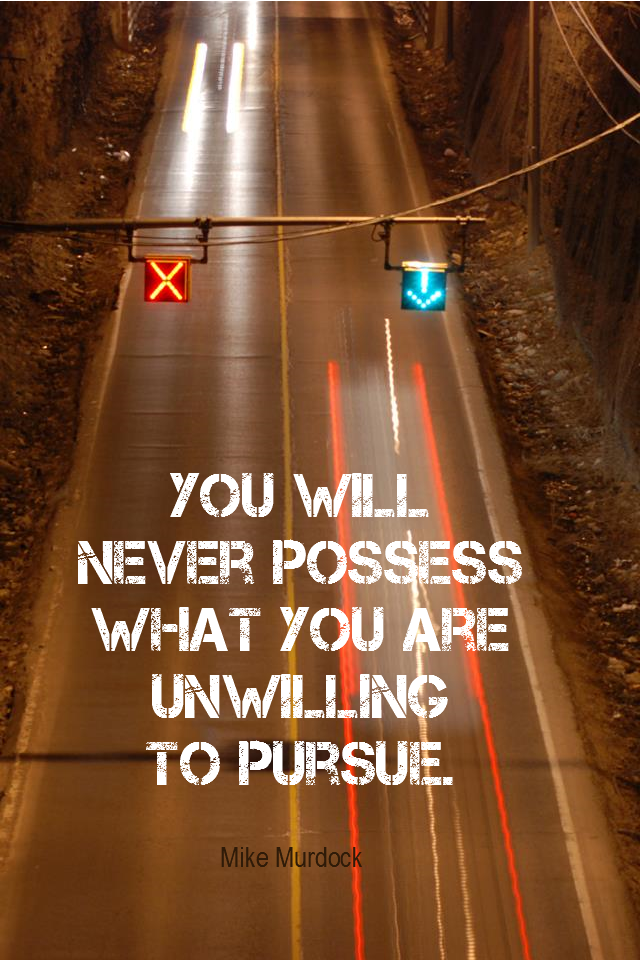 visual quote - image quotation for MOTIVATION - You will never possess what you are unwilling to pursue. - Mike Murdock