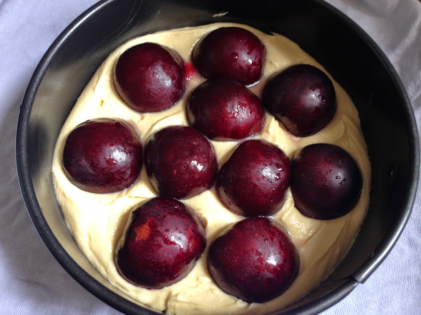 plum torte from the NYTimes by Marian Burros