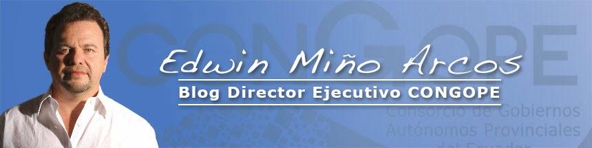 Edwin Miño Arcos (Dirección Ejecutiva CONGOPE)
