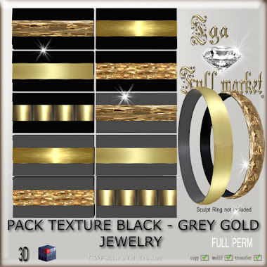 PACK TEXTURE COLORS GOLD JEWELRY. 12 colors mixed with gold.