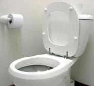 váter blanco de cuarto de baño