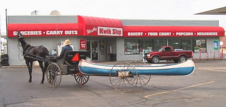 One horse canoe