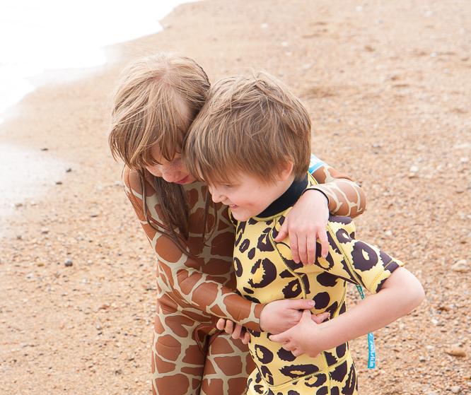 saltskin animal print wetsuits for kids