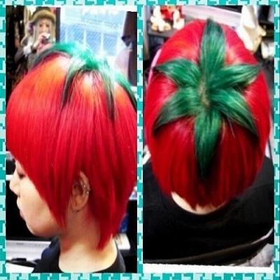 Nova moda no Japão: cabelo de tomate