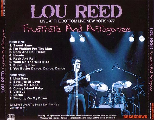 Lou Reed Bottom Line 12378