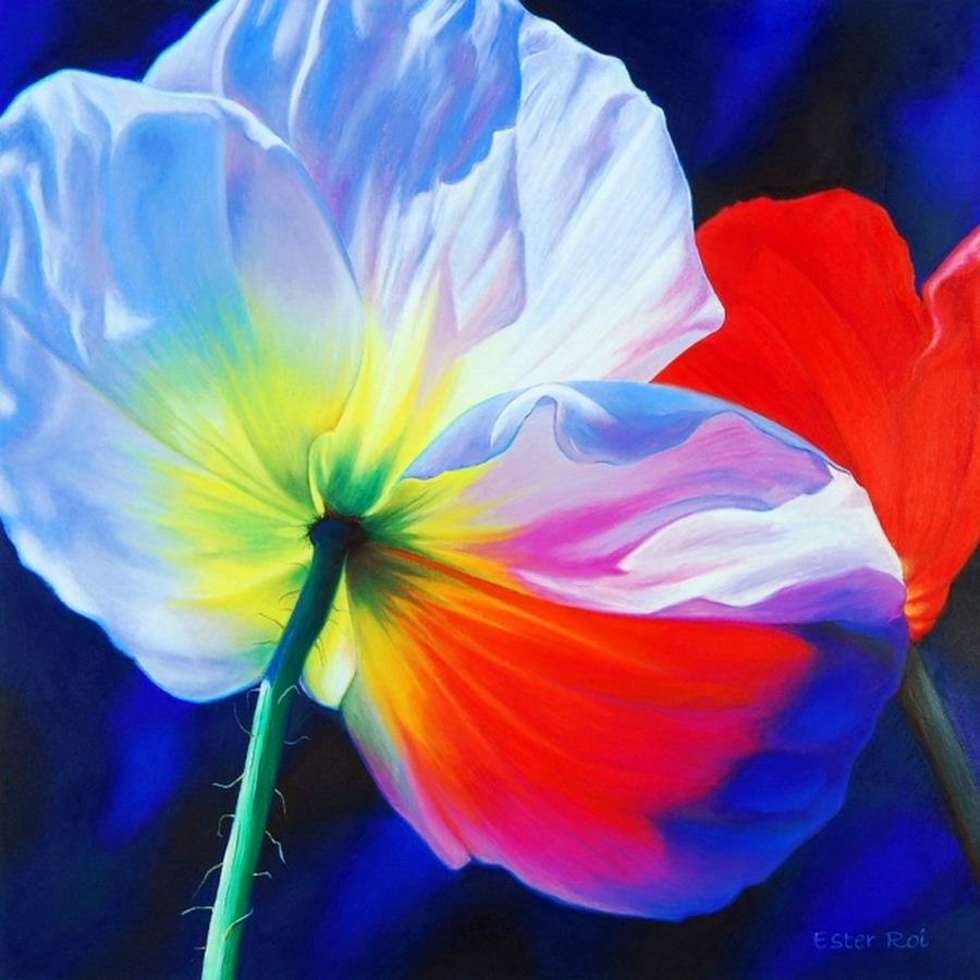 im genes arte pinturas cuadros muy coloridos con flores