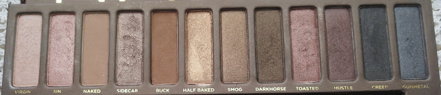 a picture of Urban Decay Naked Palette (comparison) ; Naked