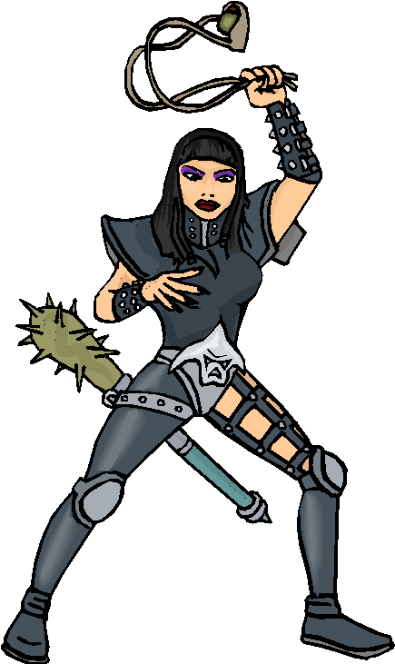 Warrior Lady Free Clipart
