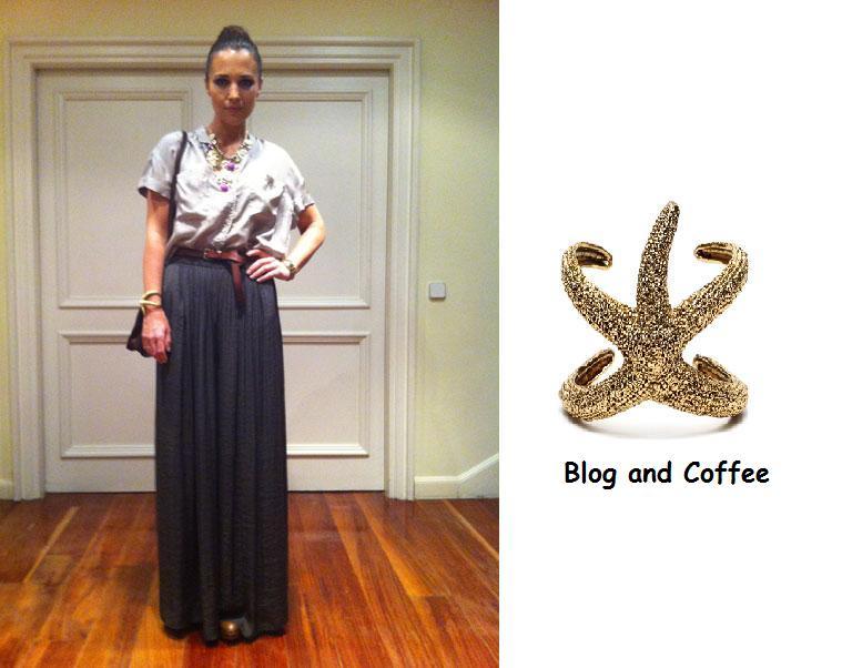 la paula echevarra en su blog luci la famosa pulsera dorada de bimba u lola