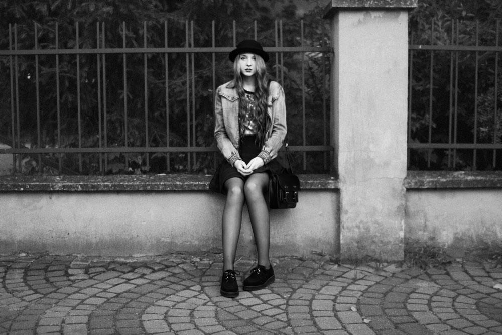 czrno białe zdjęcia blog modowy inspiracje