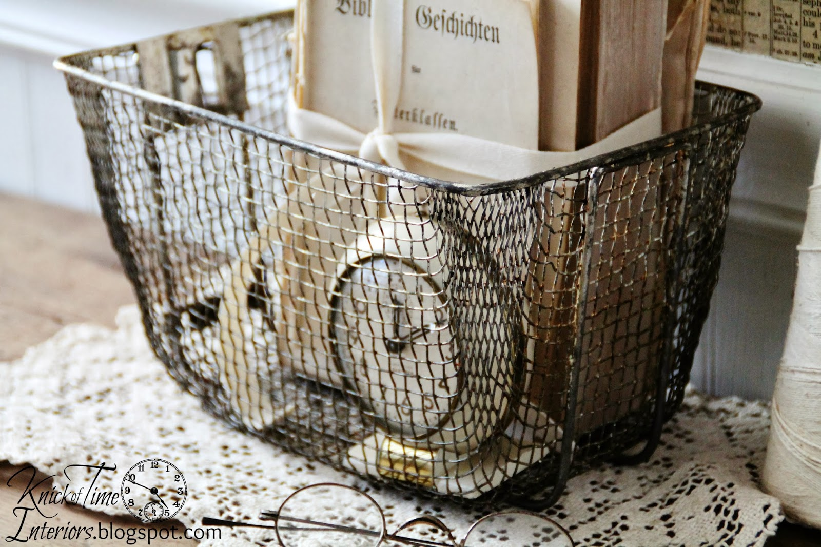 Vintage Fryer Wire Basket from Knick of Time