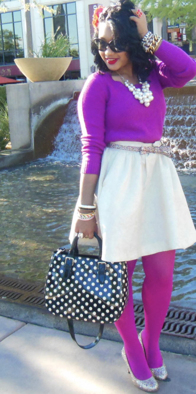 Color Me Courtney New York City Fashion Blog Purple People Eater