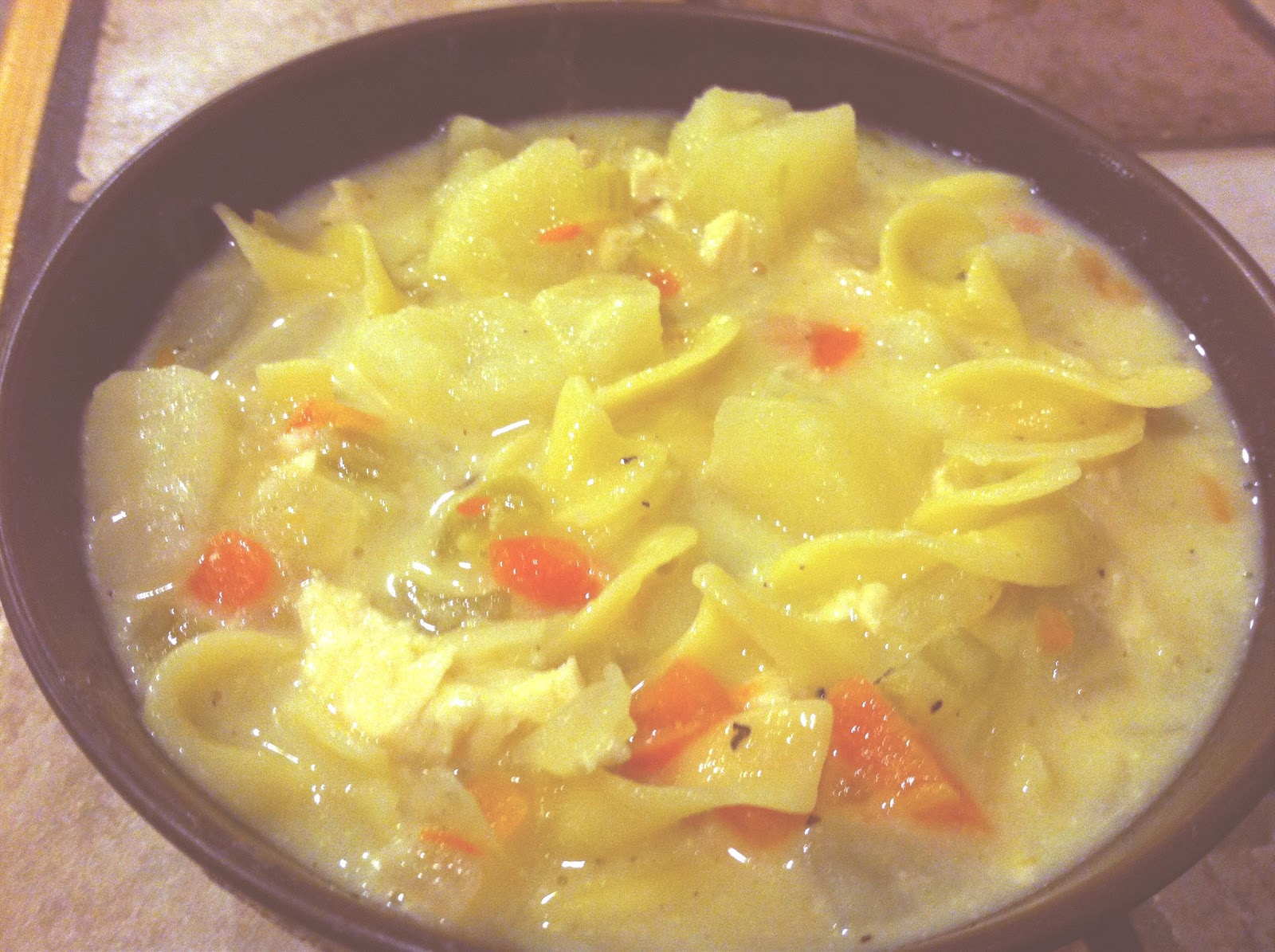 To A Mans Heart & A Womans Thighs: Roasted Chicken Noodle Soup