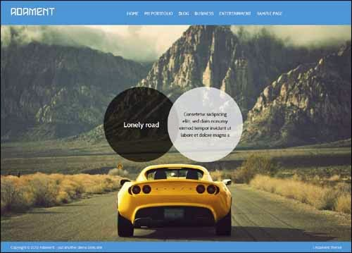 Adament Free WordPress Theme