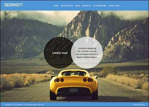 Adament Free WordPress Theme