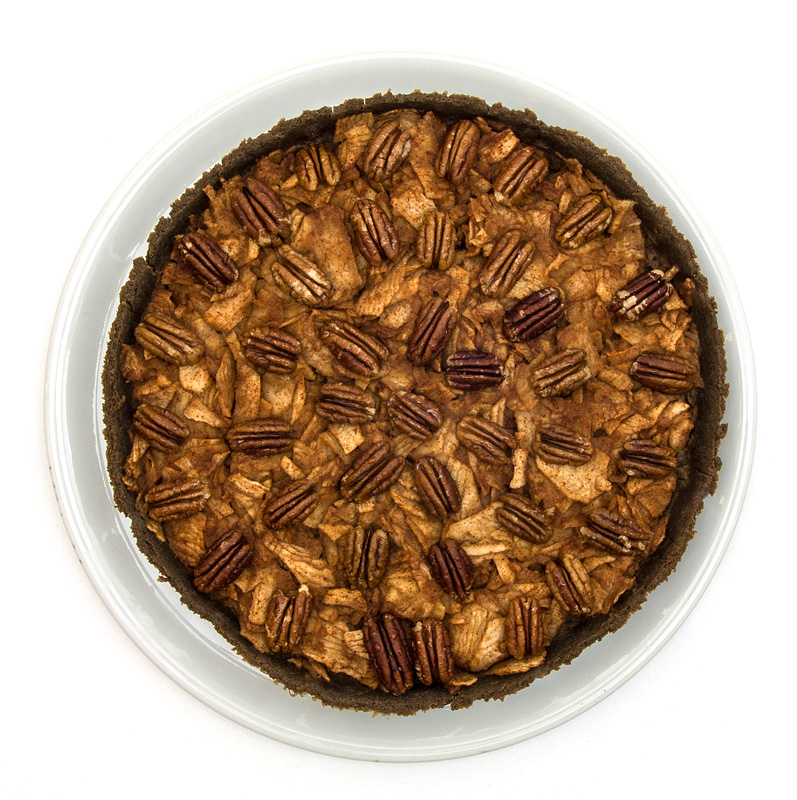 Apple pie with pecan top