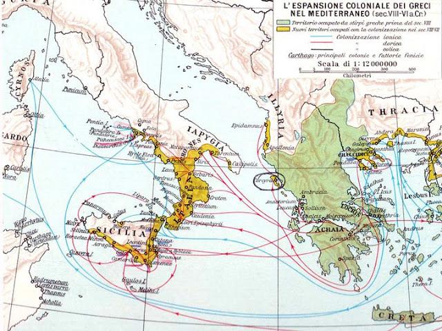La colonizzazione della Magna Grecia