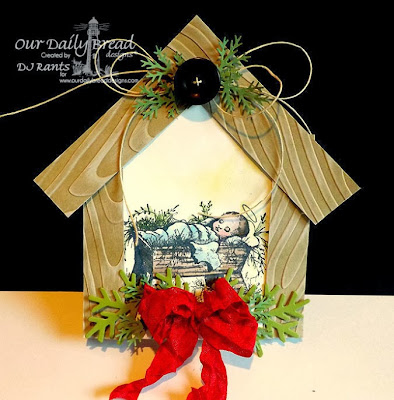 Our Daily Bread Designs, Baby Jesus Single, ODBD Custom Fancy Foliage Dies