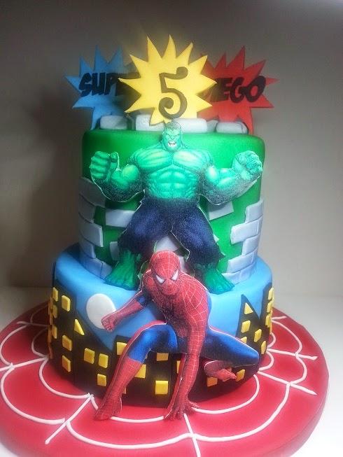 tarta spiderman hulk