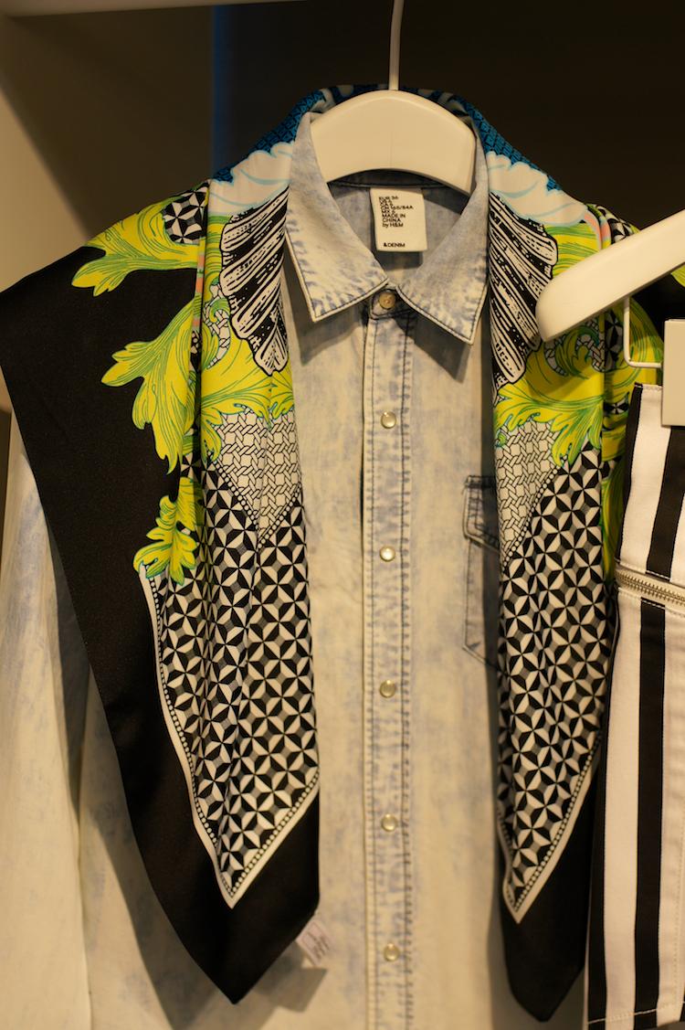 H&M silk printed scarf